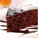 Čokoládovo - kávový koláč